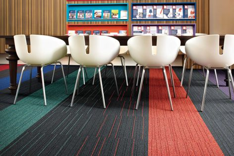 Desso Air Master carpet from Tarkett is effective in capturing and retaining fine dust.