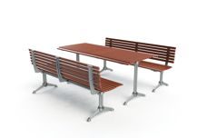 London outdoor picnic table settings