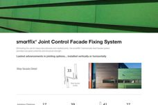 SmartFix joint control facade fixing system