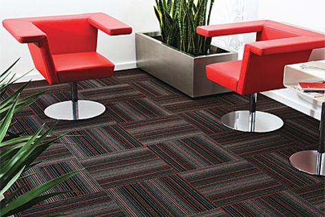 Skyline is one of the two new designs in the EC Modular carpet tile range.