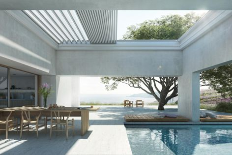 The Lamaxa range includes the L60 tilting model and the fully retractable L70. Both models can be installed freestanding or as integrated systems.