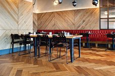 Herringbone flooring by Havwoods