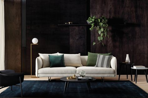 The Zaza sofa by King Living features a detachable back and arms.