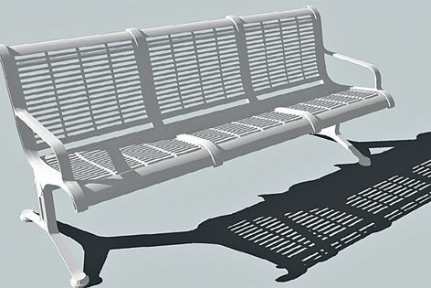 Designer Portal allows approved applicants to download CAD drawings of products such as benches.