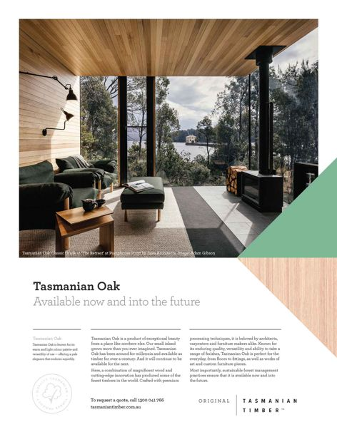 Tasmanian Oak Classic Grade at 'The Retreat' at Pumphouse Point by Jaws Architects. Image: Adam Gibson.