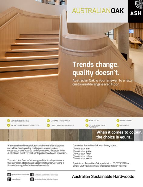 Australian Oak flooring by ASH