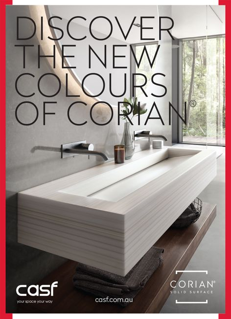 New Corian colours from CASF