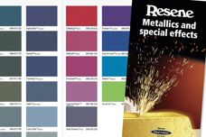 Metallics and Special Effects chart from Resene