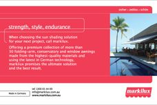 Markilux – strength, style, endurance