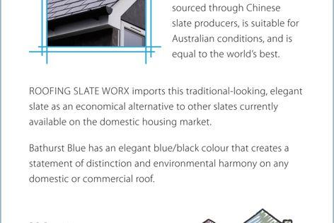 RSW Deluxe Bathurst Blue roof tiles