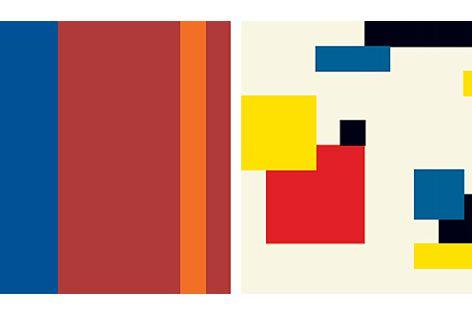 Kingspan's four new colour ranges - the Standard range, left; the Vivid range, right.