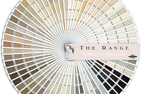 The Range: Whites & Neutrals includes a total of 360 hues, spanning from white to black.