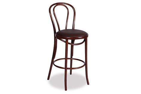 The Vienna No.18 bar stool illustrates the traditional craft of woodturning.