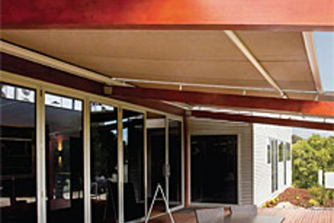 Varioscreen retractable roof systems at an Artisans of Barossa winery, in South Australia.
