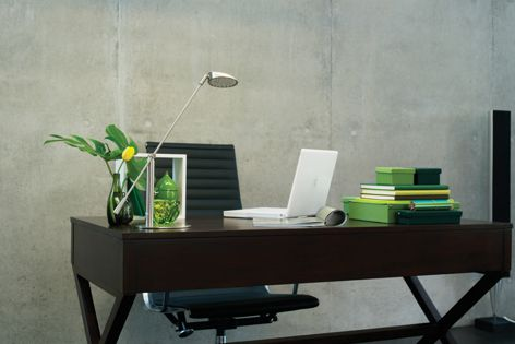 The Wing Glide fluorescent fixture is ideal for office and residential applications.