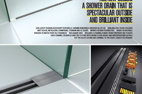 Blade shower drain by Aquabocci